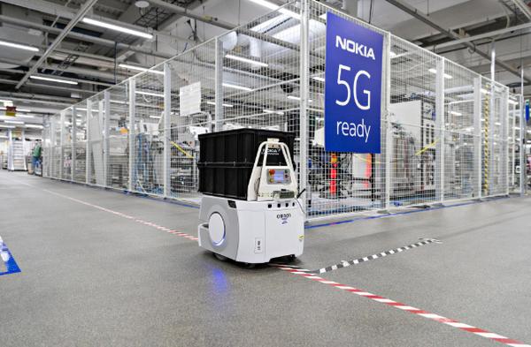 Роботизация: Nokia задействовала 4.9G на собственной фабрике